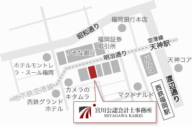 宮川公認会計士事務所の簡易マップ
